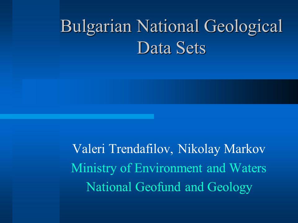 Bulgarian National Geological Data Sets