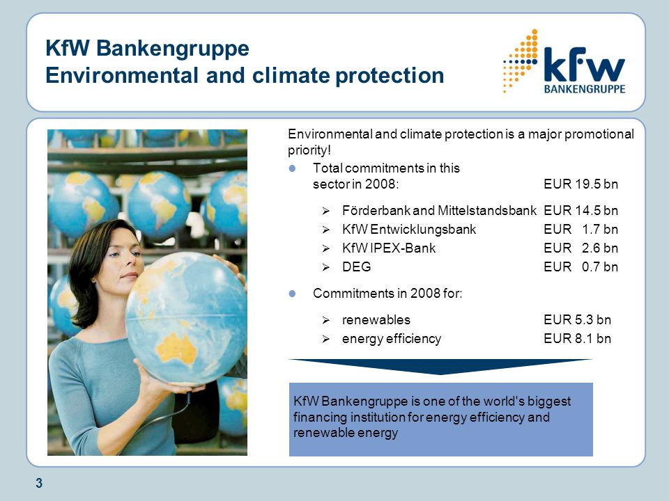 KfW Bankengruppe Environmental and climate protection