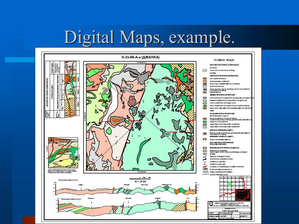 Digital Maps, example.