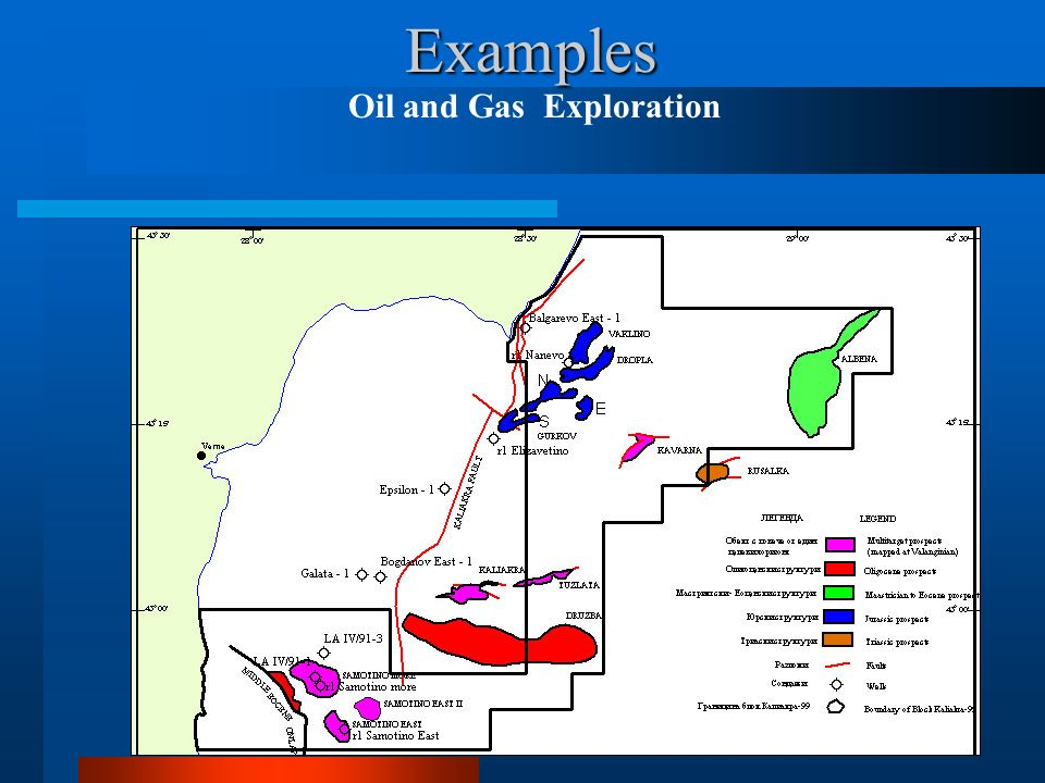 Examples Oil and Gas Exploration