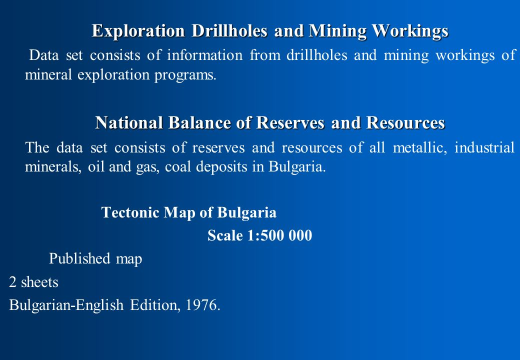 Exploration Drillholes and Mining Workings