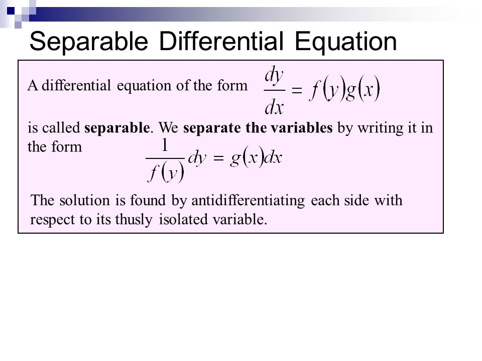 Exponential Growth and Decay ppt download – Separable Differential Equations Worksheet