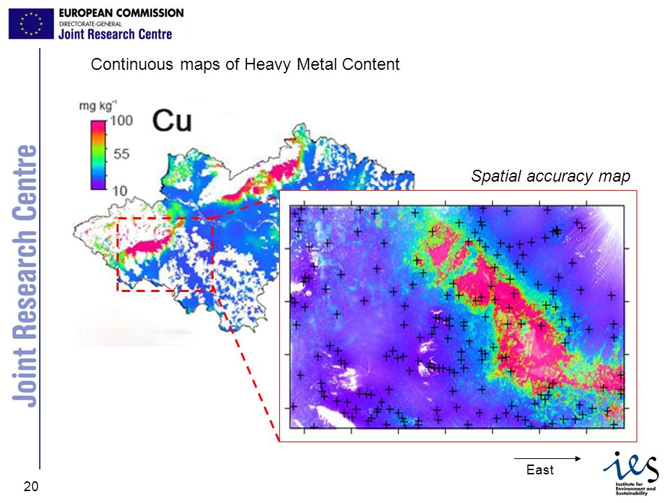Continuous maps of Heavy Metal Content
