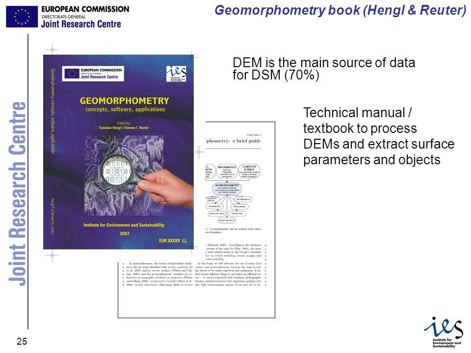 Geomorphometry book (Hengl & Reuter)