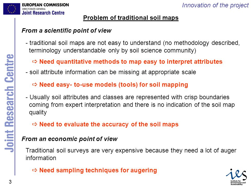 Problem of traditional soil maps