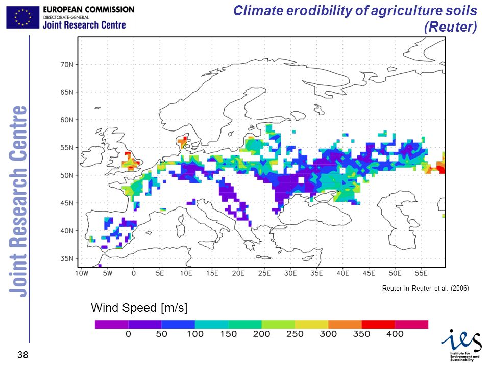 Climate erodibility of agriculture soils (Reuter)