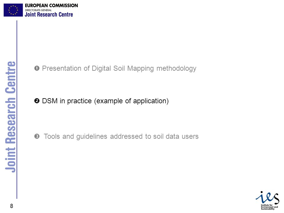  Presentation of Digital Soil Mapping methodology
