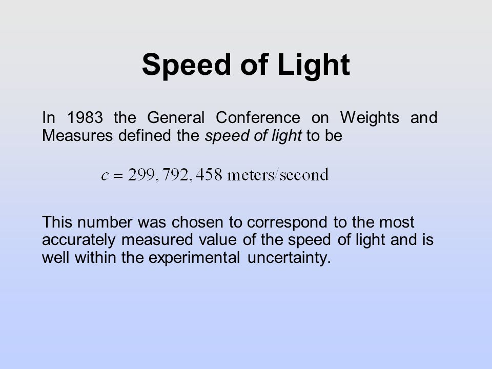 Who determined the speed of light?