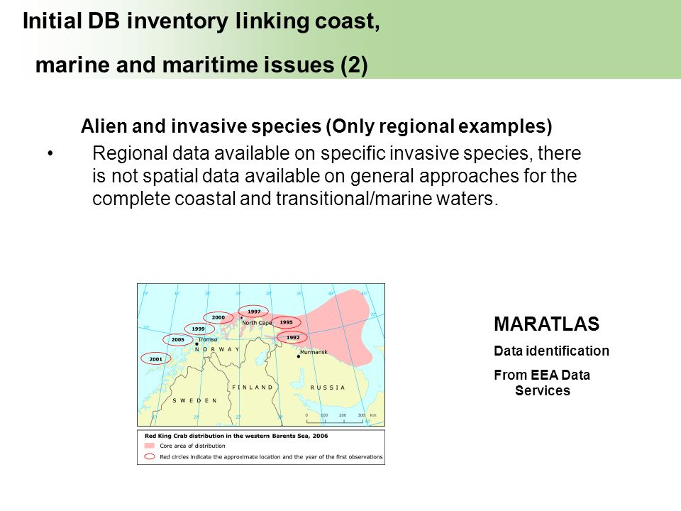 Initial DB inventory linking coast, marine and maritime issues (2)