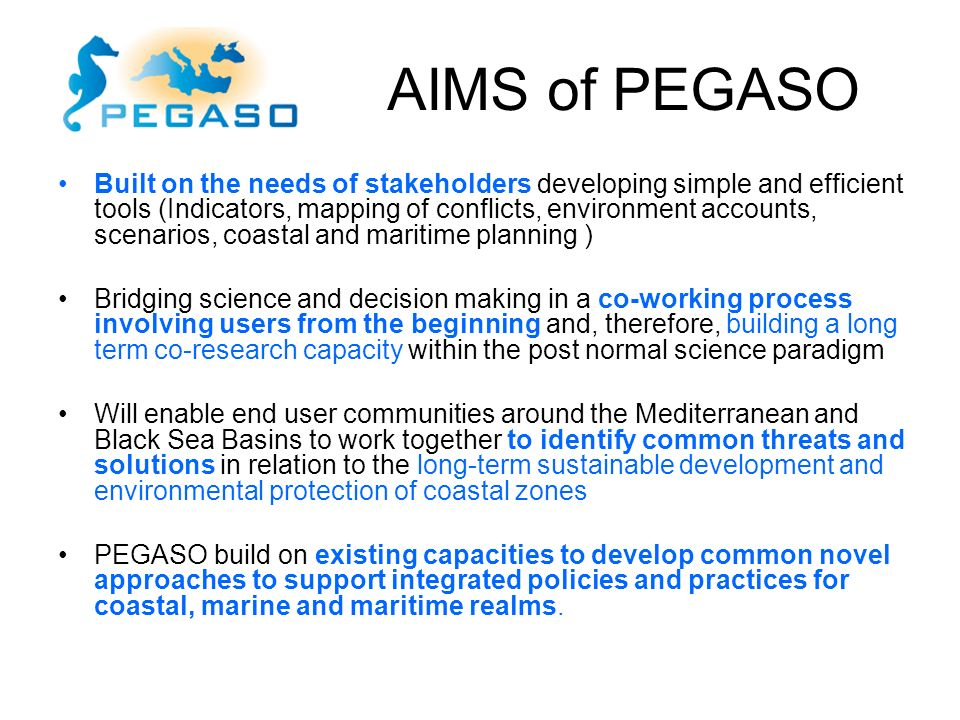 AIMS of PEGASO