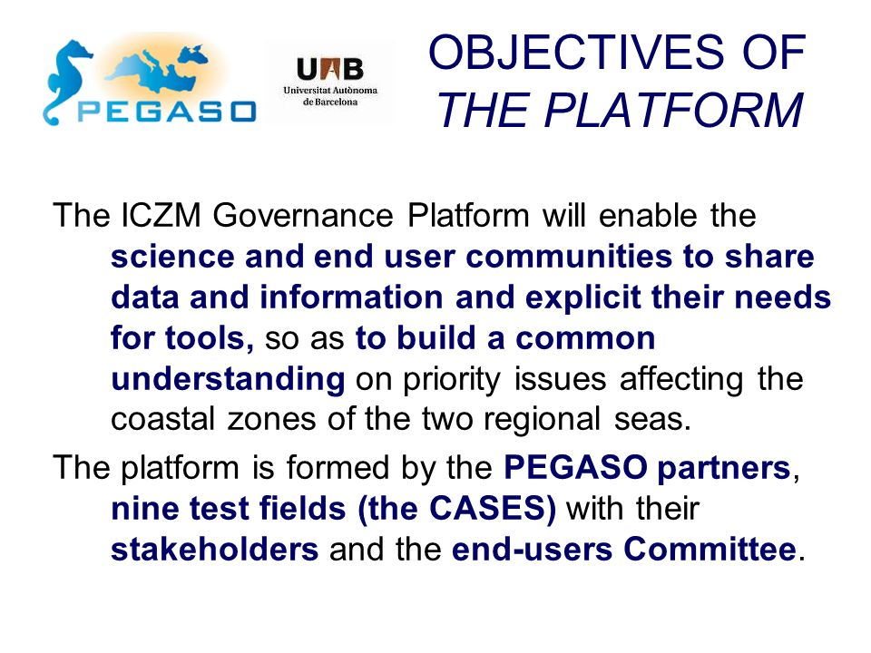 OBJECTIVES OF THE PLATFORM