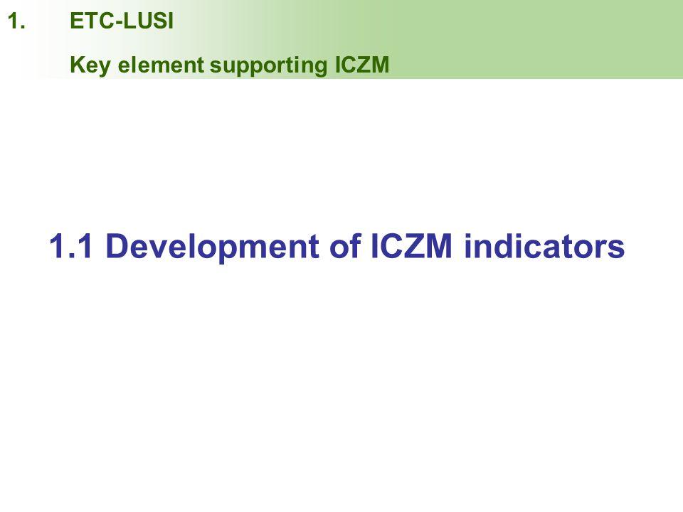 1.1 Development of ICZM indicators
