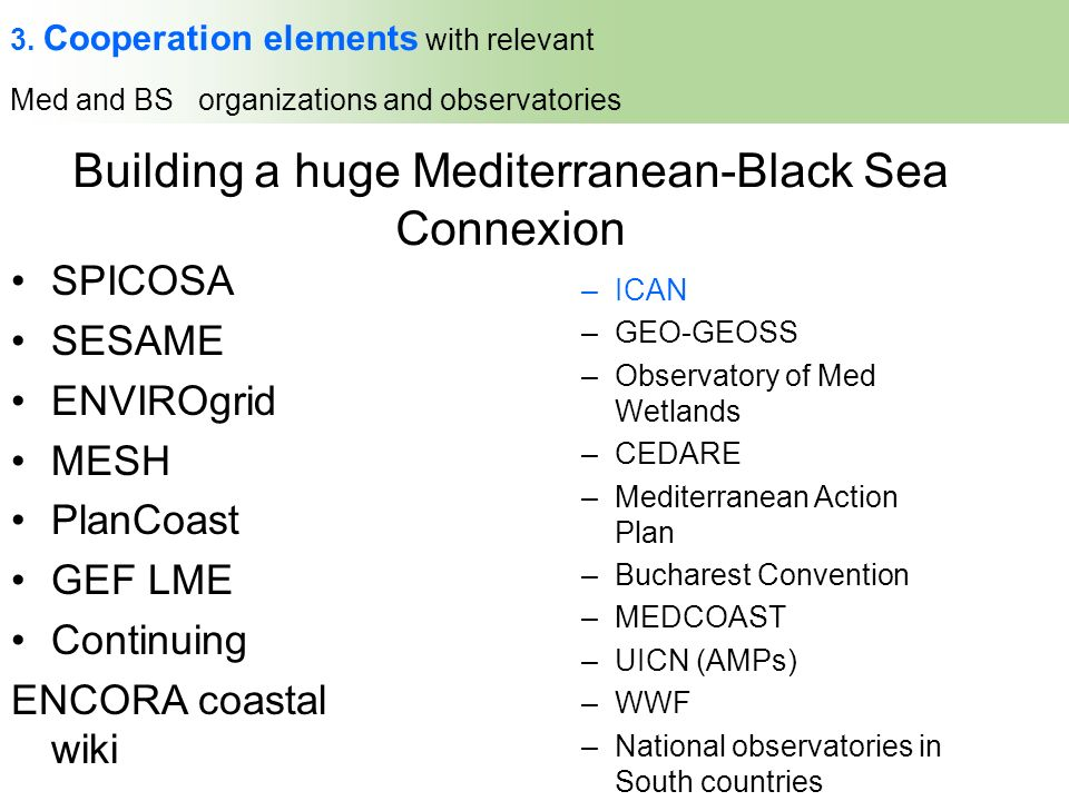 Building a huge Mediterranean-Black Sea Connexion