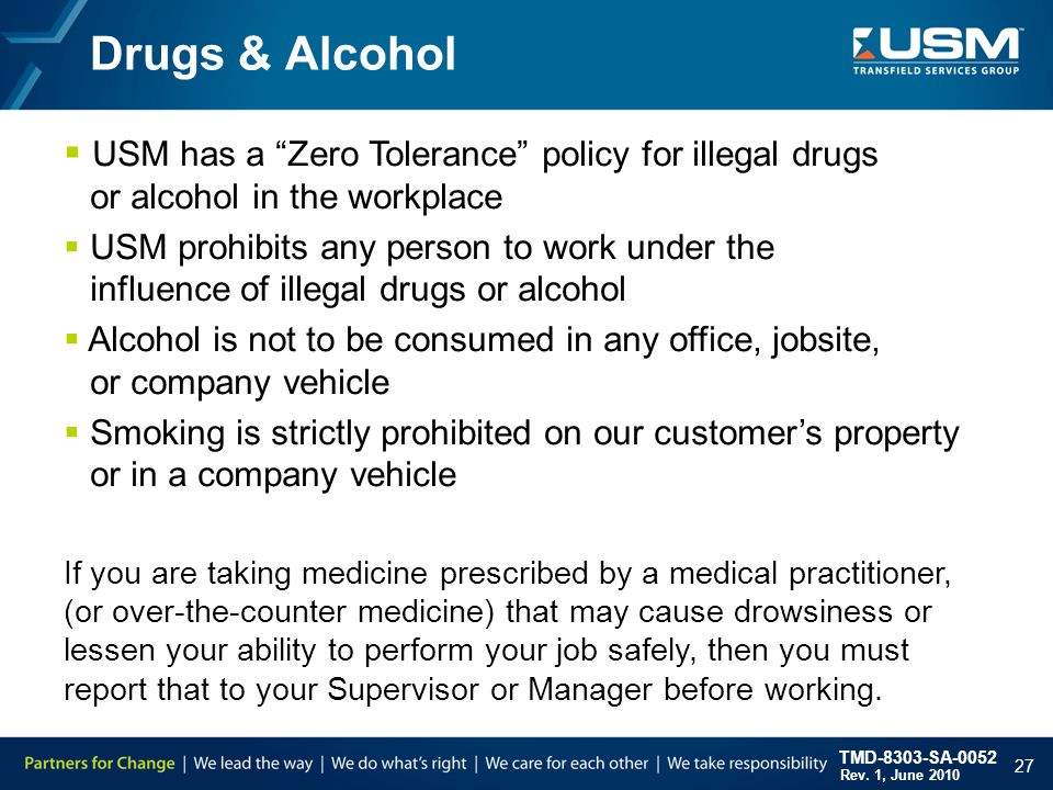 drugs in the work place Drugs and alcohol in the workplace health and safety may 2010 3 nevertheless all forms of substance use, whether alcohol or drugs, legal or illegal.