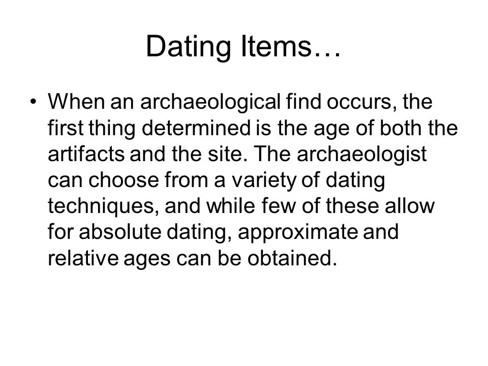 Historical dating methods