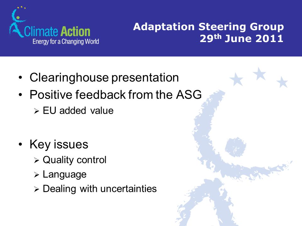 Adaptation Steering Group 29th June 2011