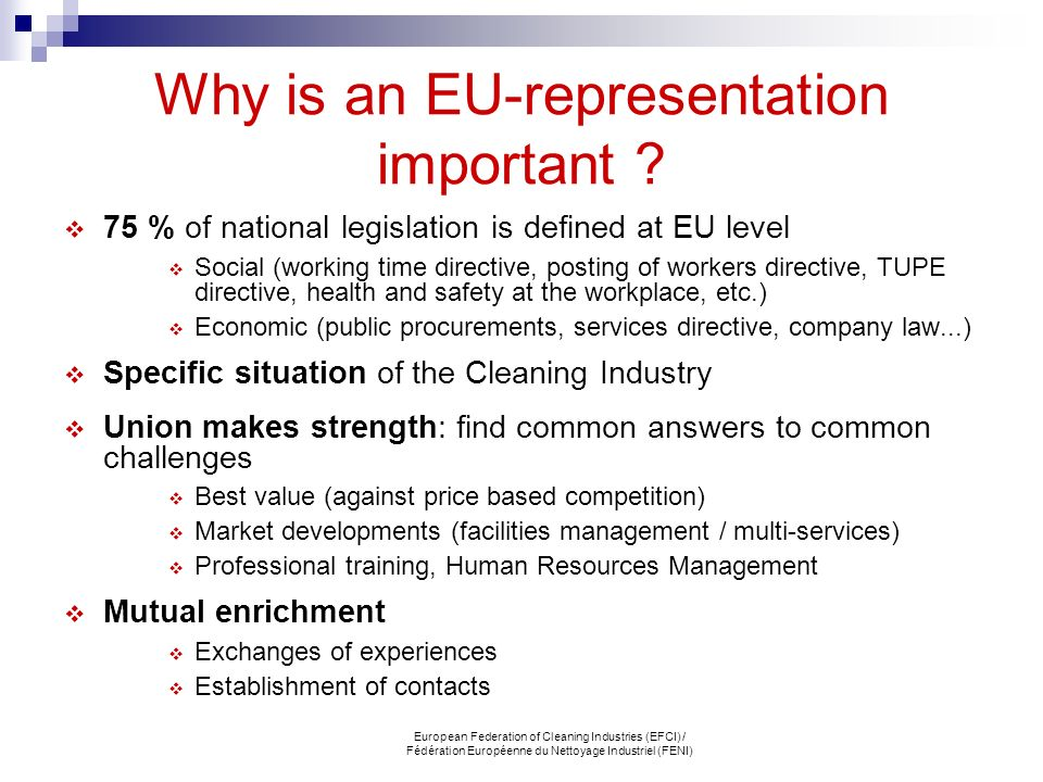 Why is an EU-representation important