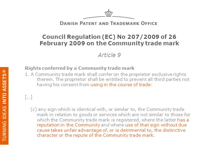 Council Regulation (EC) No 207/2009 of 26 February 2009 on the Community trade mark