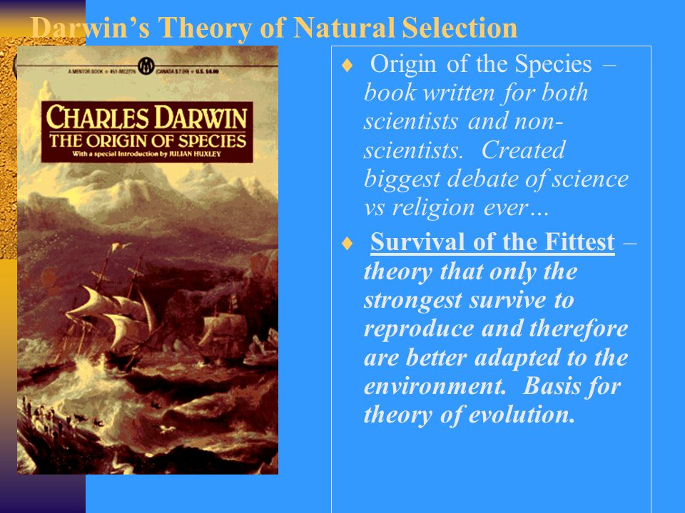 Explain The Theory Of Natural Selection By Charles Darwin
