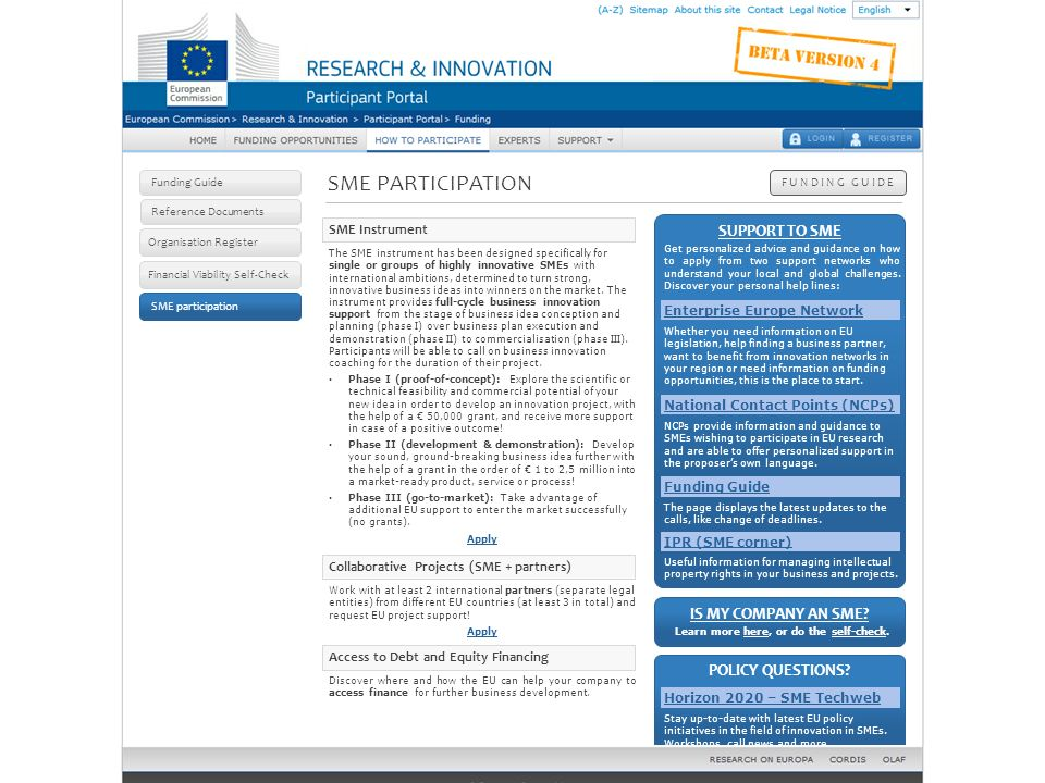 How to participate: SME participation