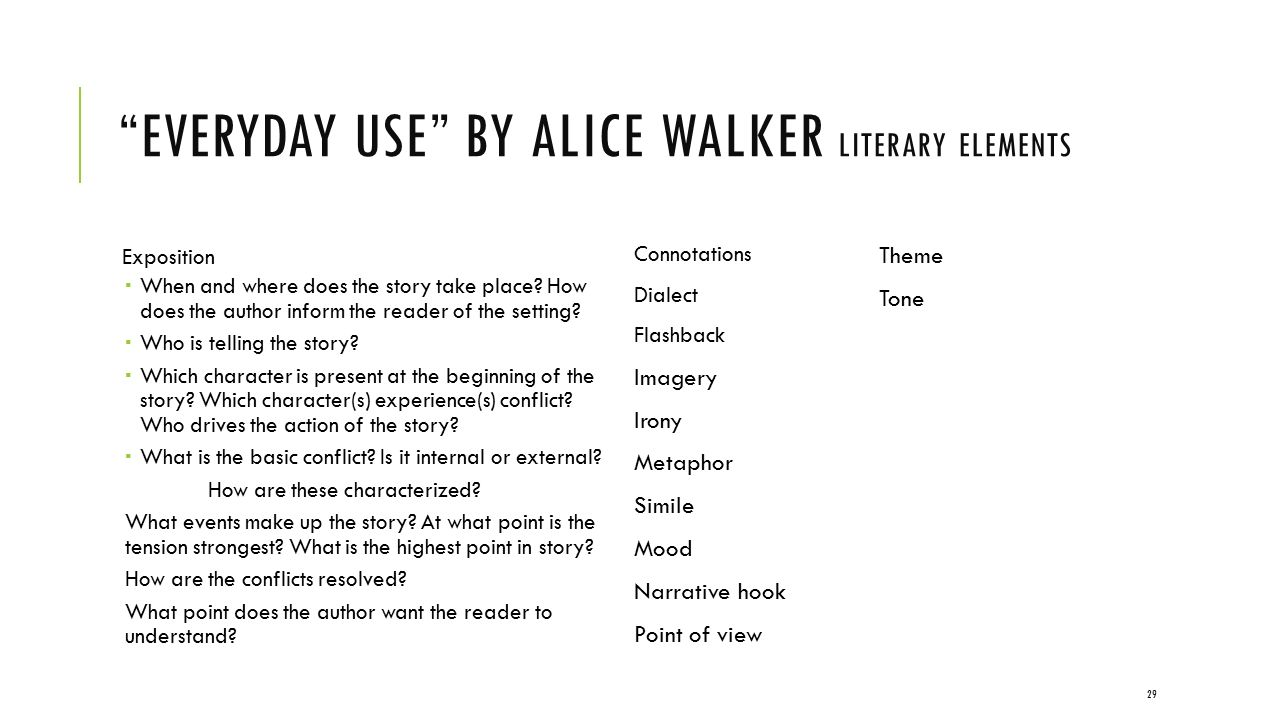 The point of view everyday use by alice walker