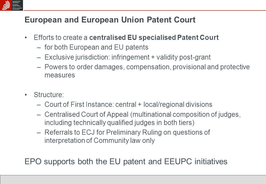 European and European Union Patent Court