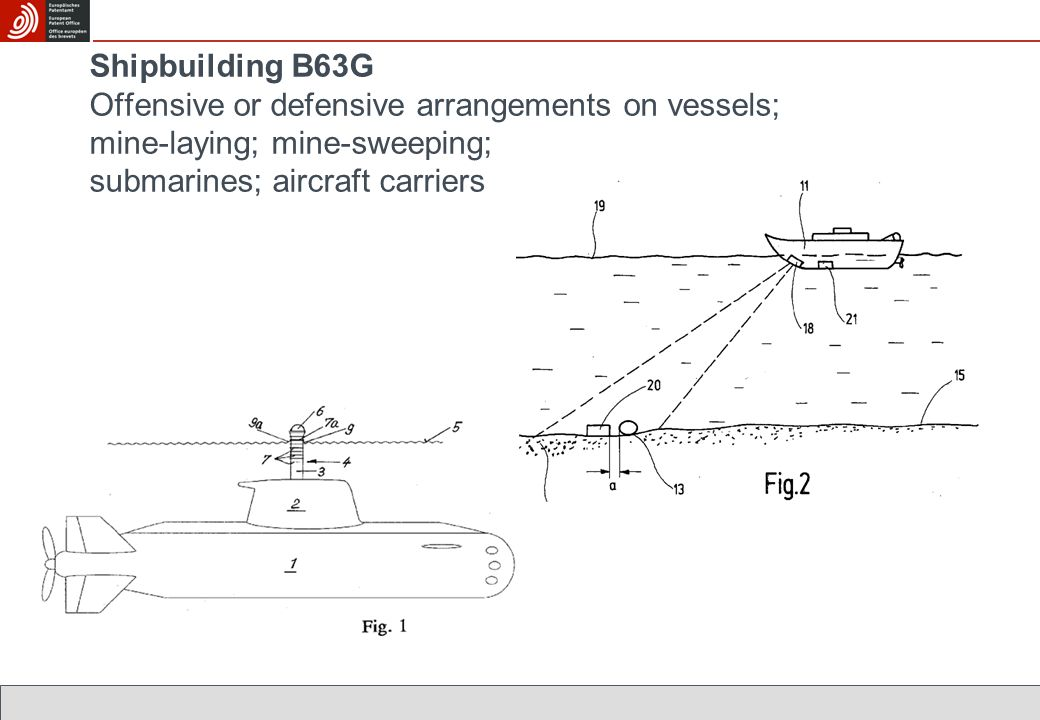 Shipbuilding B63G Offensive or defensive arrangements on vessels; mine-laying; mine-sweeping; submarines; aircraft carriers