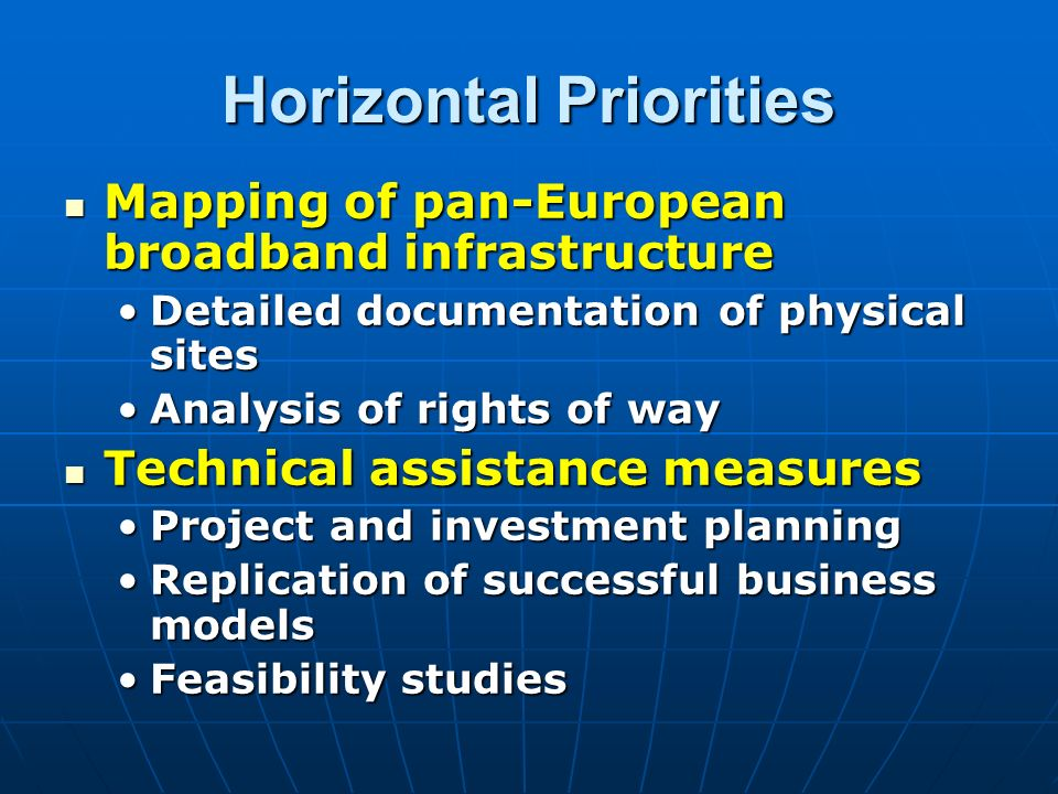 Horizontal Priorities