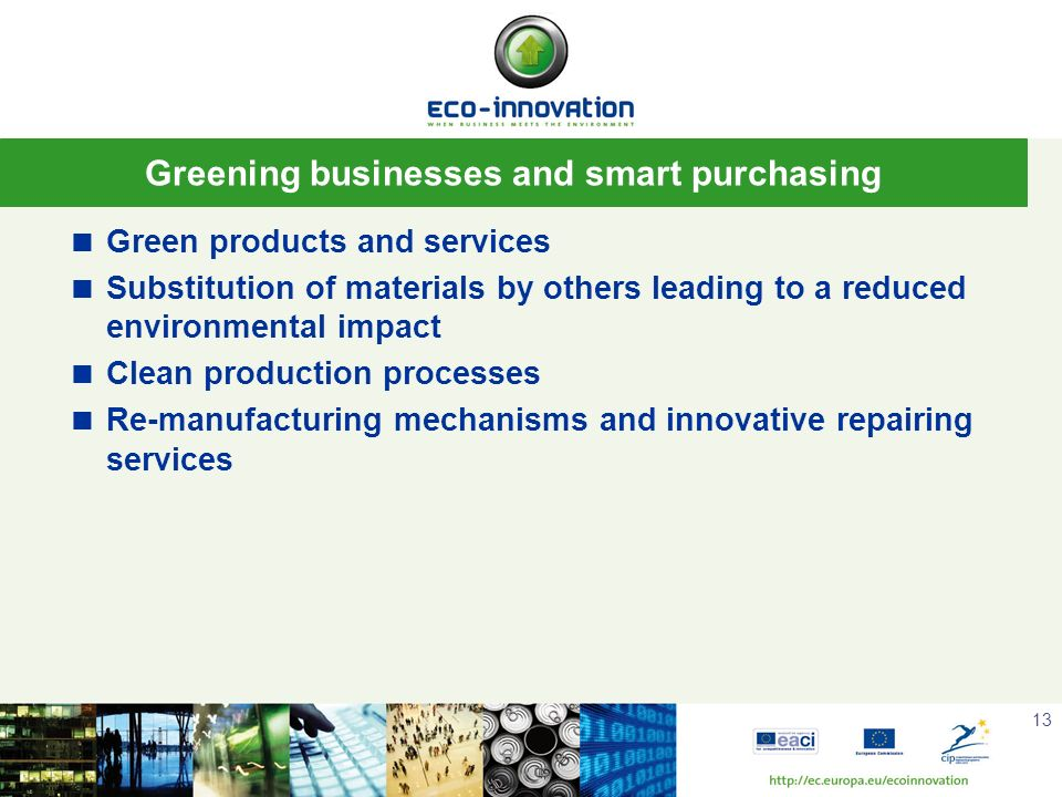 Greening businesses and smart purchasing