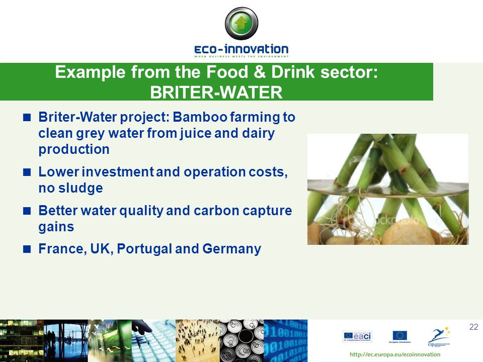 Example from the Food & Drink sector: BRITER-WATER