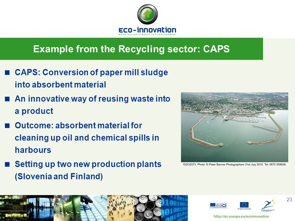 Example from the Recycling sector: CAPS