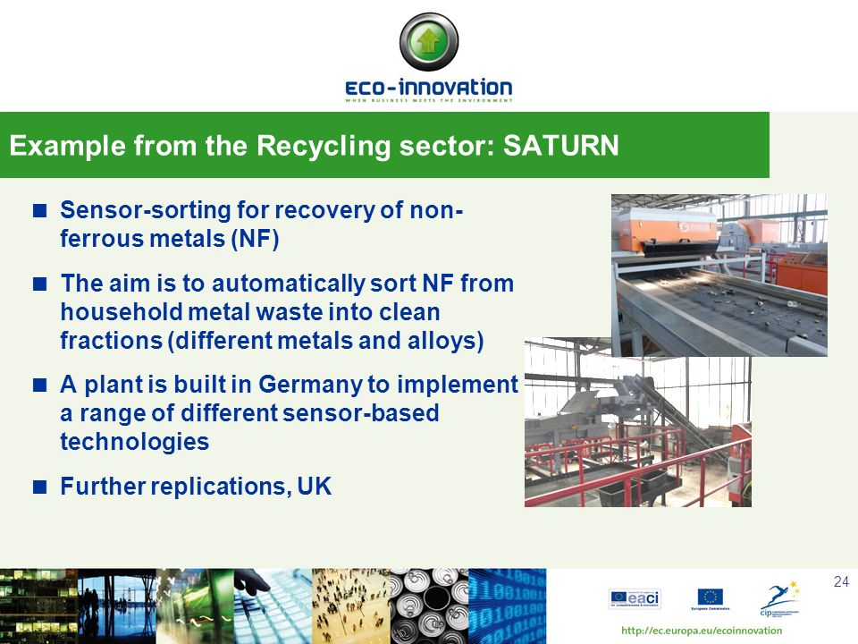 Example from the Recycling sector: SATURN