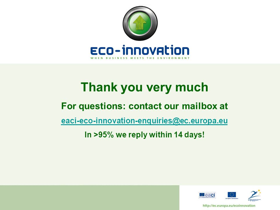 Thank you very much For questions: contact our mailbox at