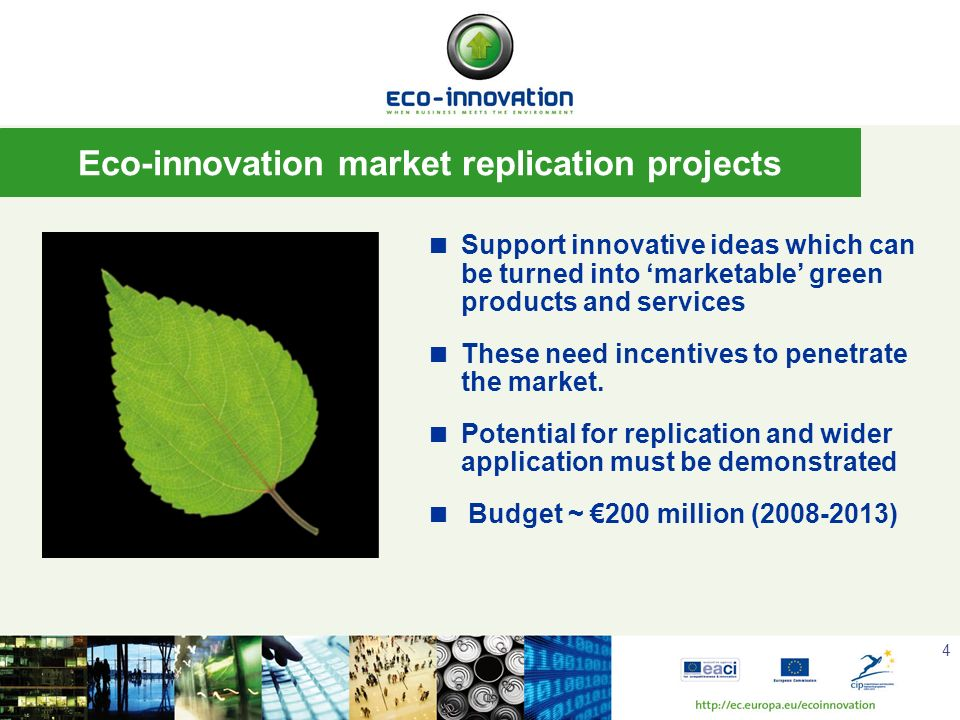 Eco-innovation market replication projects