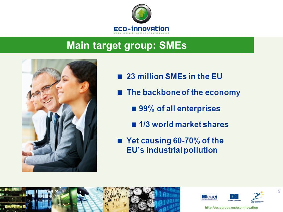 Main target group: SMEs