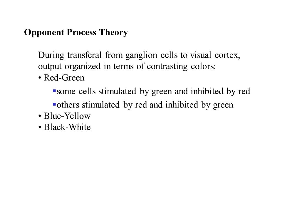 Opponent Process Theory