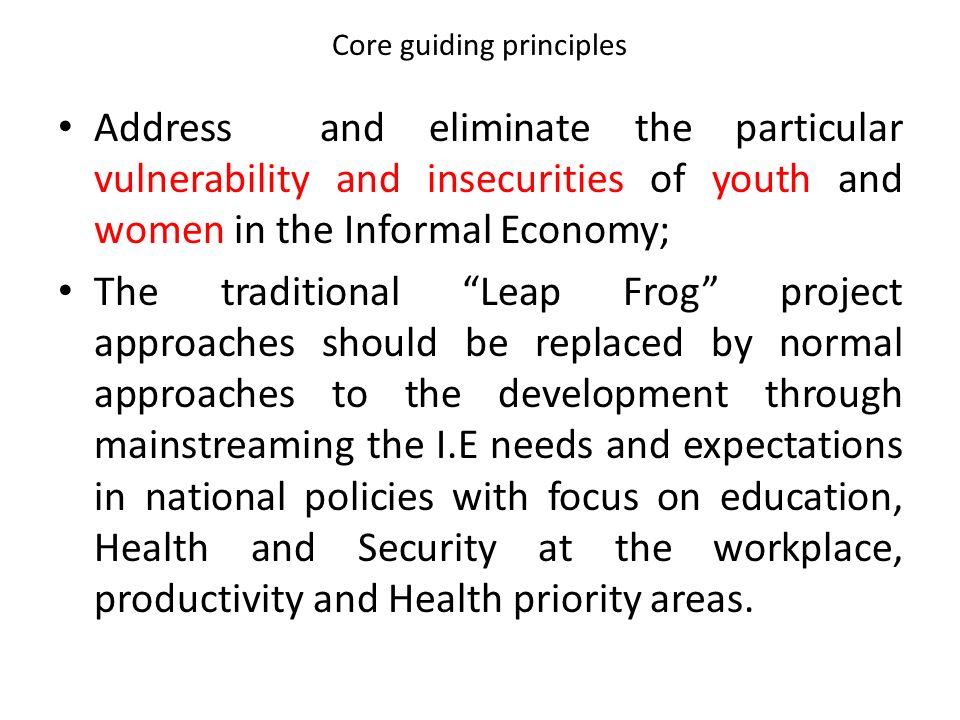 Core guiding principles