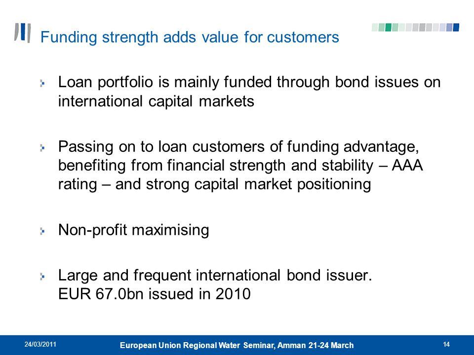 Funding strength adds value for customers
