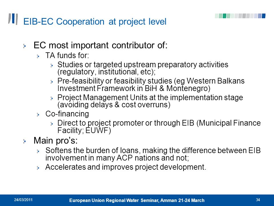 EIB-EC Cooperation at project level
