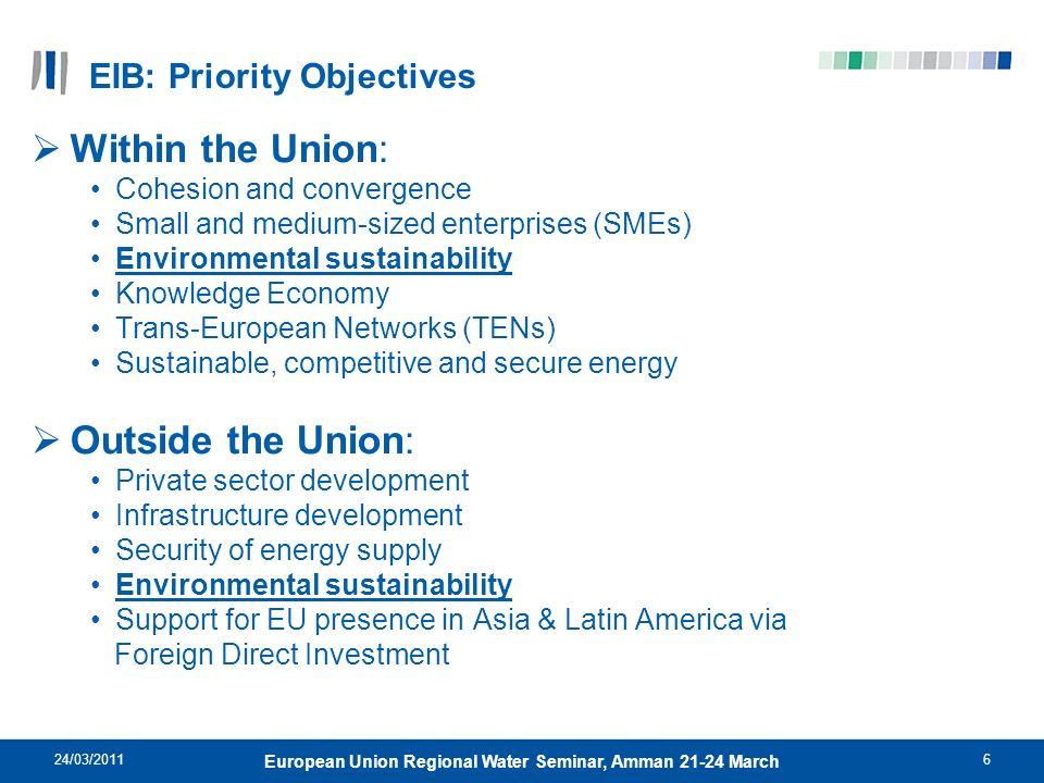 EIB: Priority Objectives