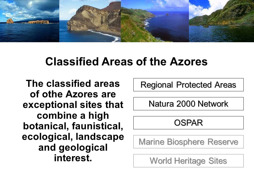 Classified Areas of the Azores