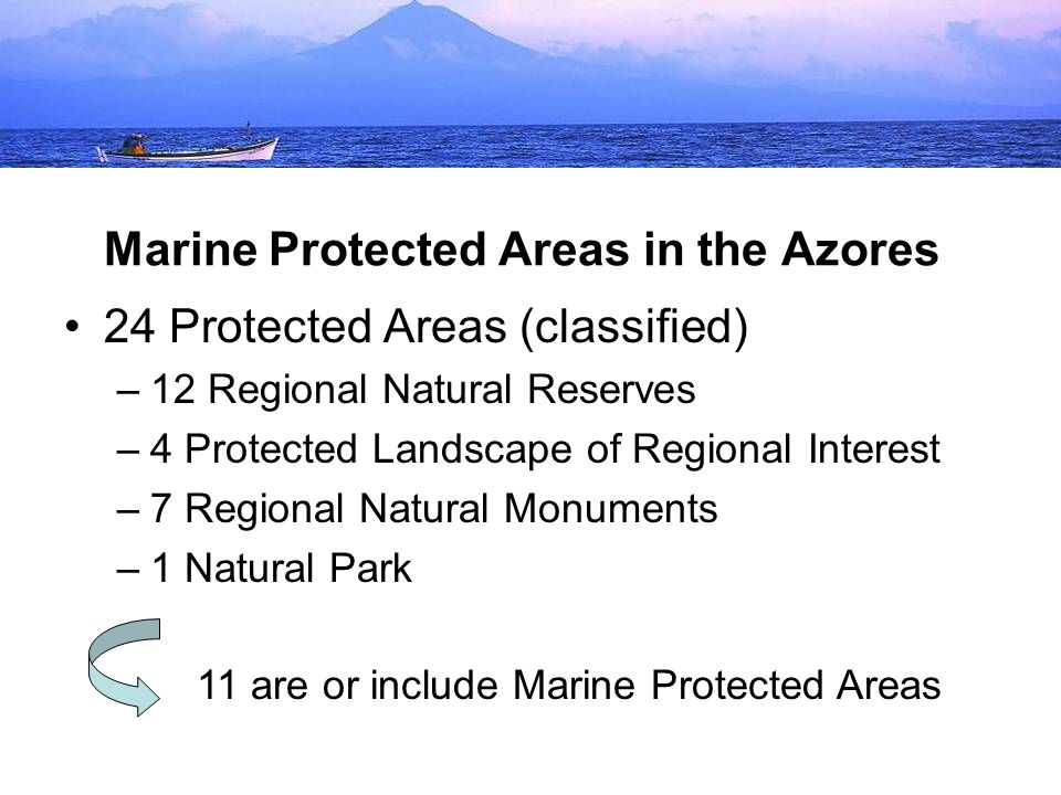 Marine Protected Areas in the Azores