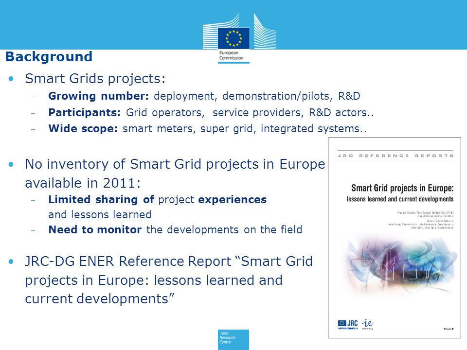 No inventory of Smart Grid projects in Europe available in 2011: