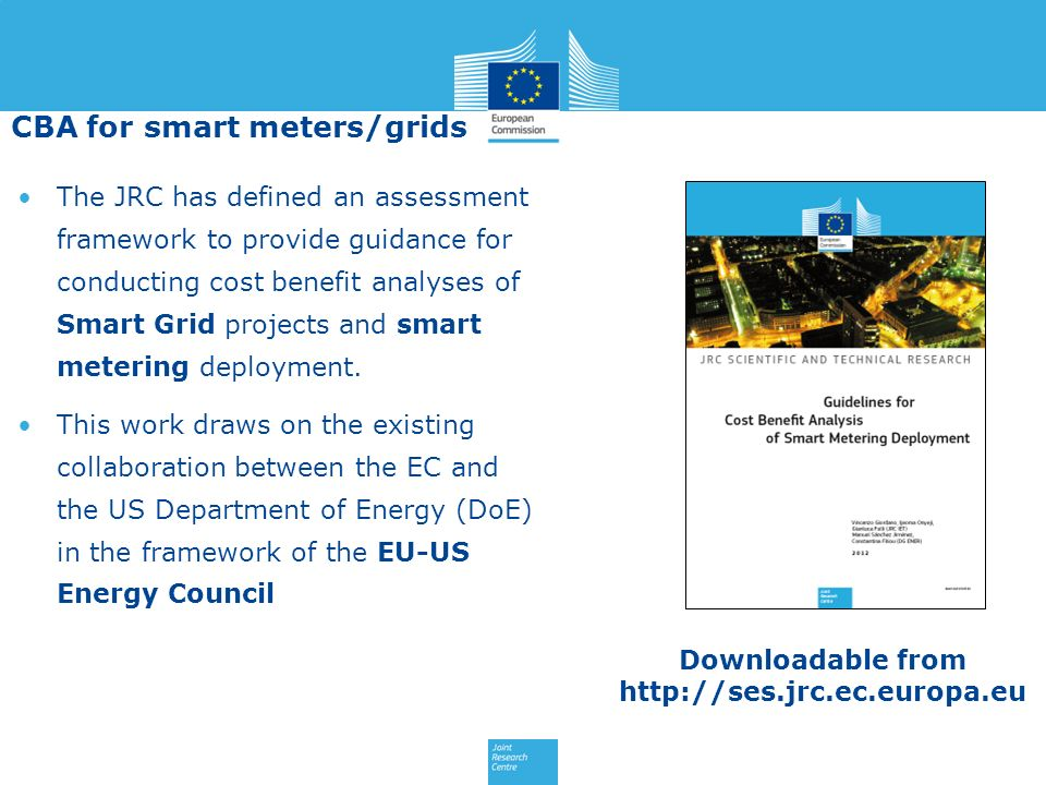 CBA for smart meters/grids