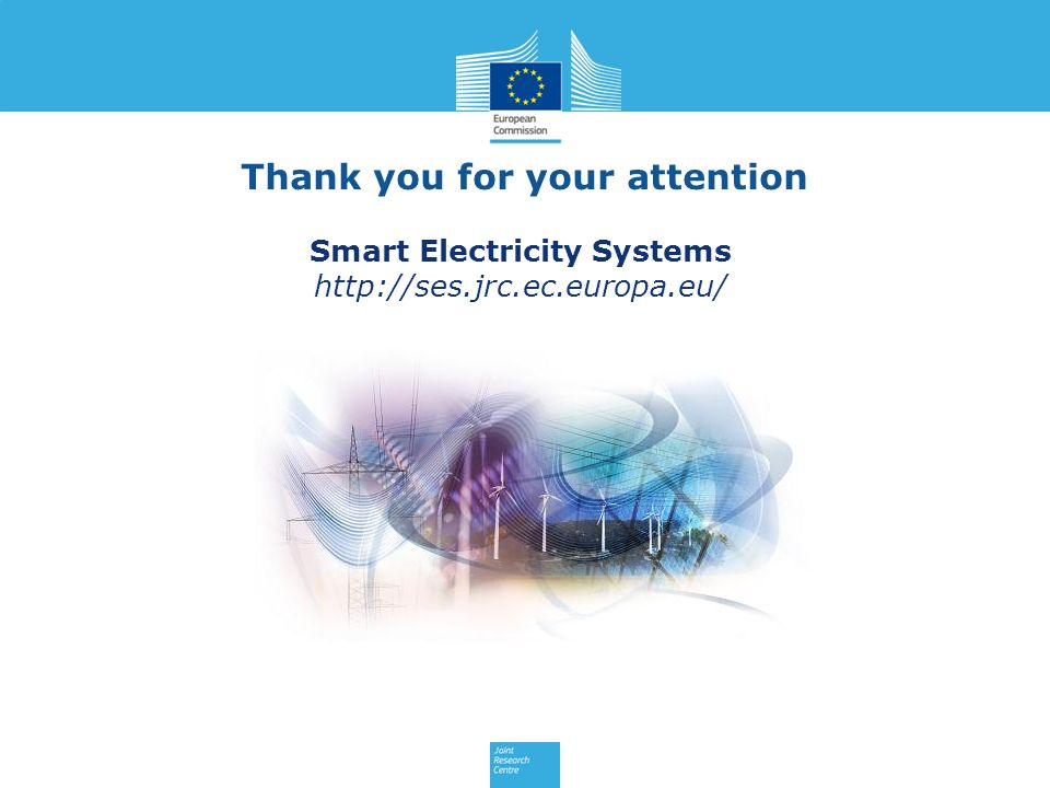 Thank you for your attention Smart Electricity Systems