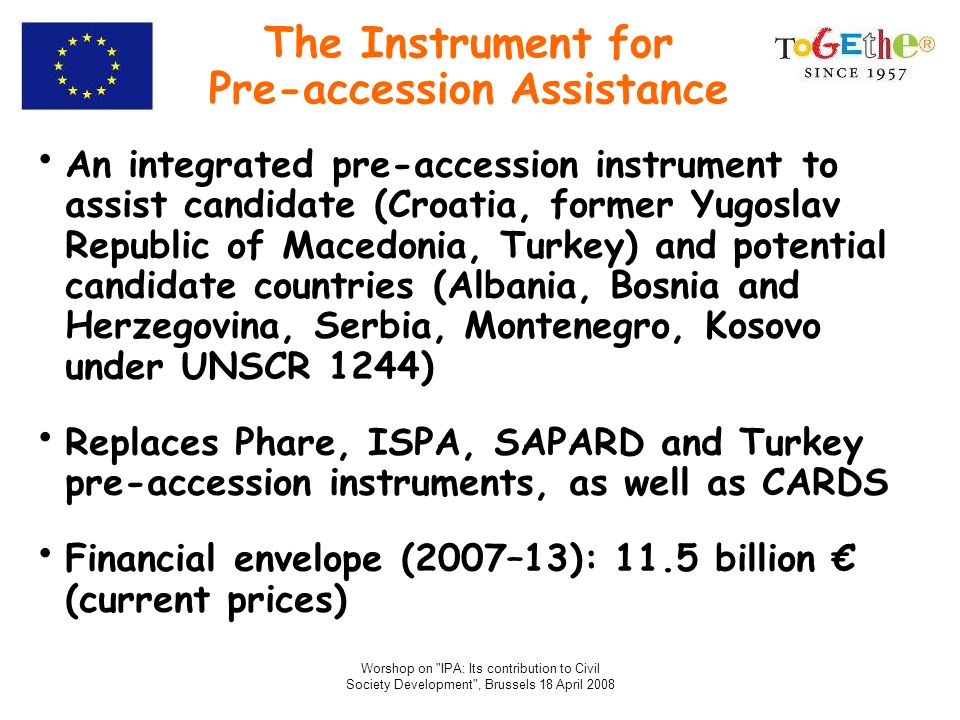 The Instrument for Pre-accession Assistance