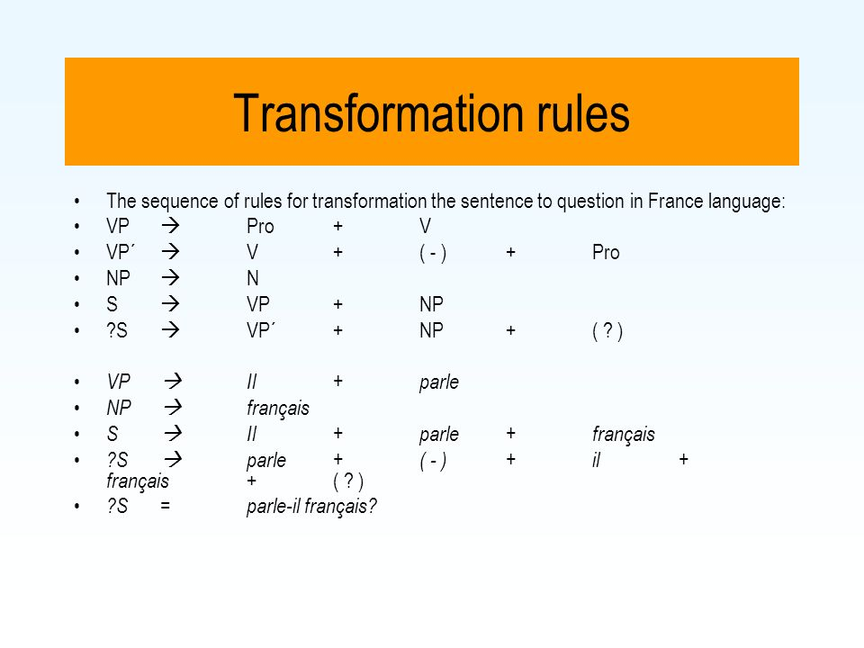 rules of transformation of sentences Rules of transformation of sentences by mahbub murad in academic, language, rules rules of transformation of sentence (affirmative to negative) affirmative: negative: only/ alone (person) only allah can help us only rahim can do the work none but  none but allah can help us none but rahim can do the work.