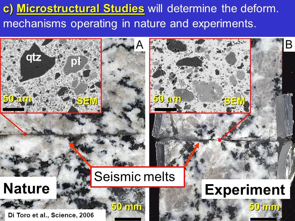 Nature Experiment Seismic melts