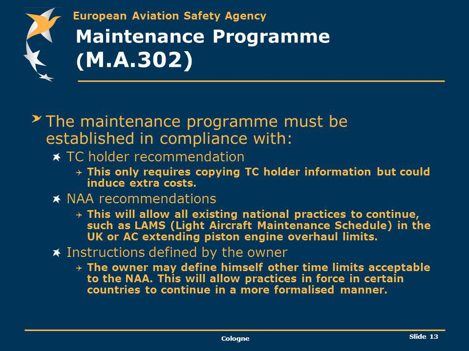 Maintenance Programme (M.A.302)