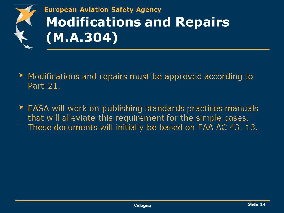 Modifications and Repairs (M.A.304)